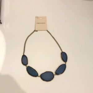 Never Worn! Forever 21 Blue & Gold Necklace